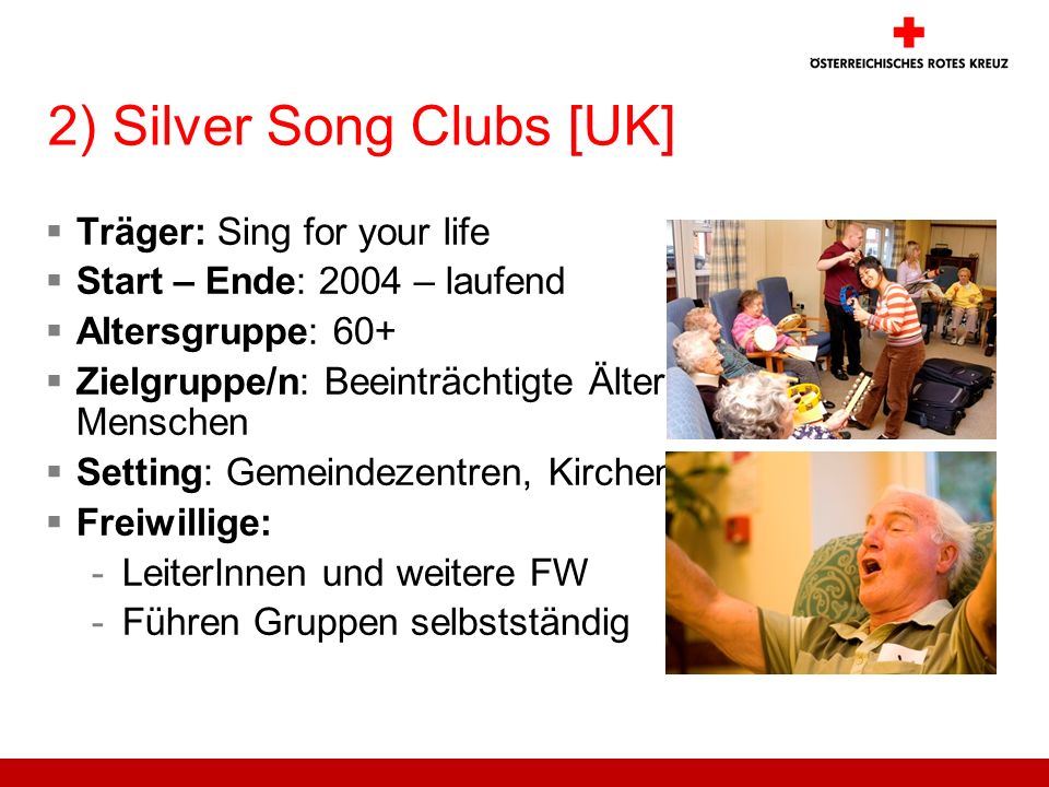 2) Silver Song Clubs [UK]